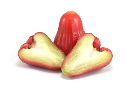 rose apple on white background Imagens