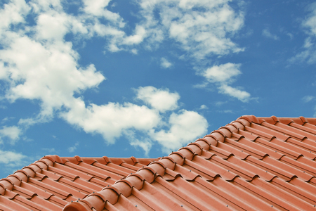 close up of roof tiles