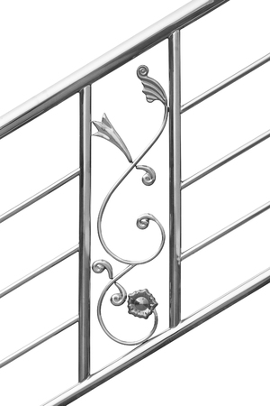 stainless steel handrail isolated on white