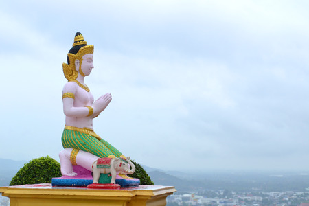 Statue of a thailand deity,in nakhonsawan,thailand