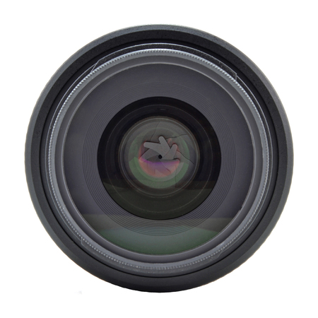 lens for the dslr camera on a white background