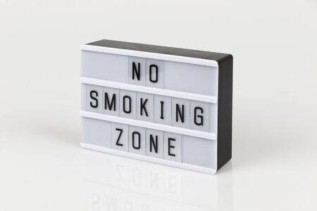 no smoking zone on white background