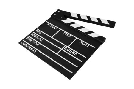 clapperboard isolated on white background