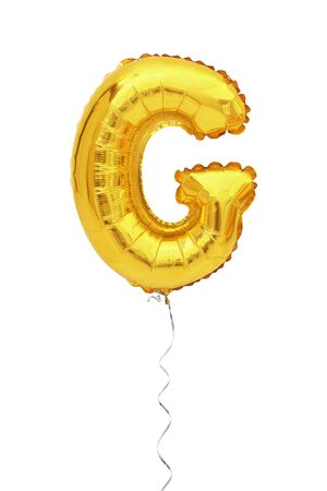 letter G balloon font isolated on white background