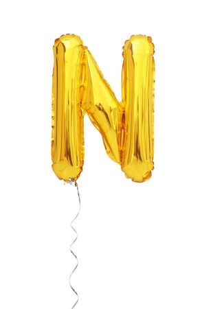letter N balloon font isolated on white background