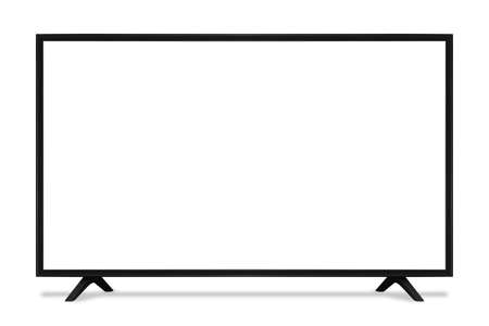 blank screen uhd smart tv monitor isolated on white background