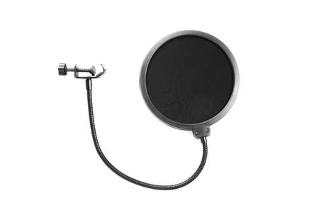 pop filter isolated on white background