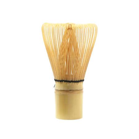 bamboo whisk isolated on white background
