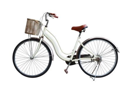 Classic city bike isolated on white background
