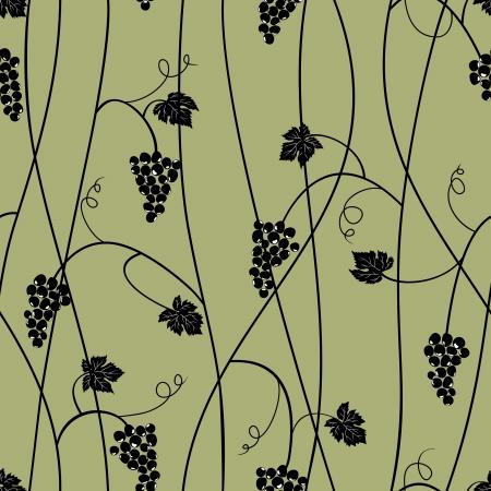 Grape seamless pattern Stock Vector - 6184835