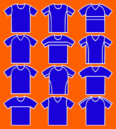 hosiery: Set of the T-shirts. Vector.