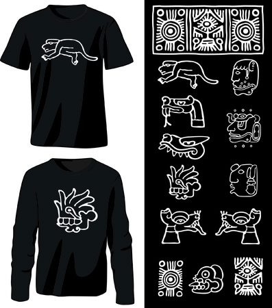 Shirts with native prints Vector