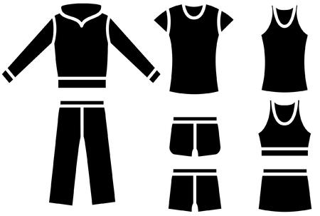 ふだん着: 女性の普段着のセット  イラスト・ベクター素材