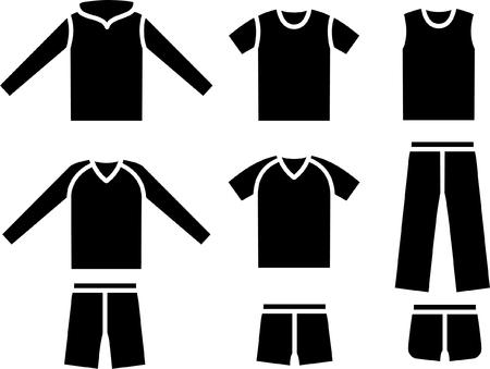 Set of the sports wear