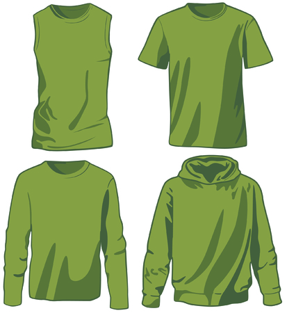 Set of shirts Vector