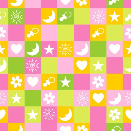 teat: Seamless pattern. Vector