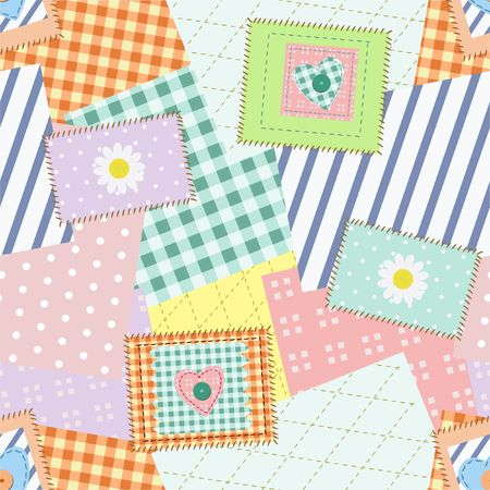 Patch seamless pattern photo