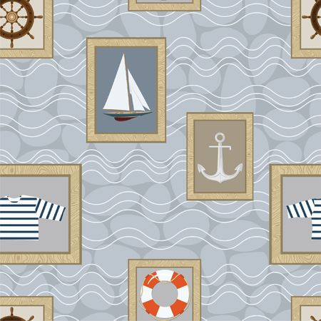 Marine seamless pattern Stock Photo - 6239629