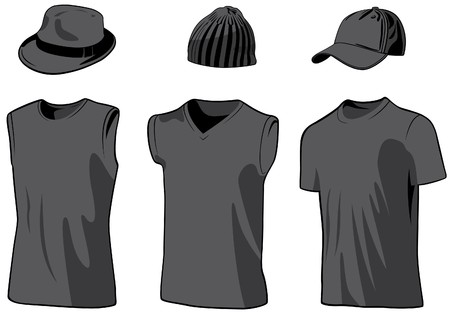 Shirts and caps. illustration Stock Illustration - 7069212