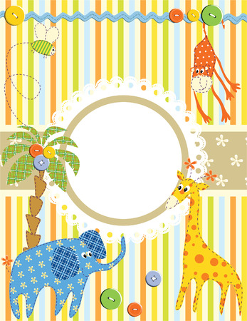 Baby frame or card. Vector Vector