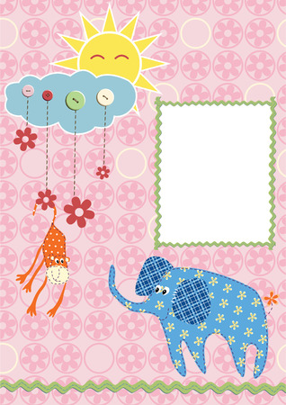 Baby frame or card.