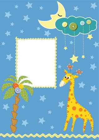 postcard design: Baby frame or card.