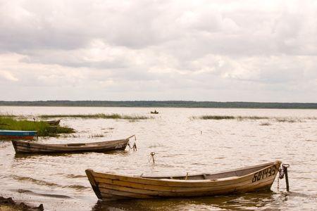 Boats on the coast photo