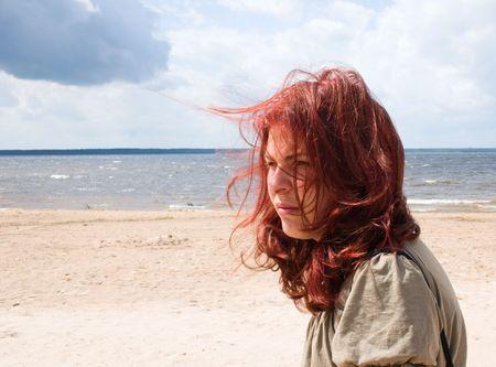 Woman on the beach photo