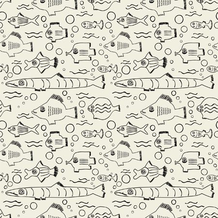 Seamless pattern with fish Stock Vector - 8093096