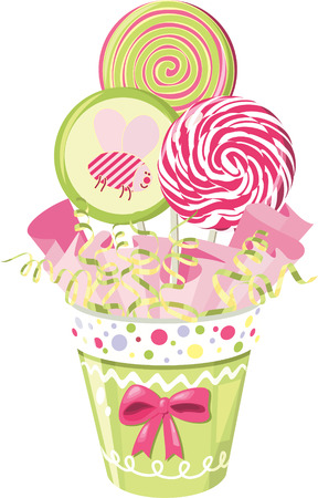 Lollipop bouquet Vector