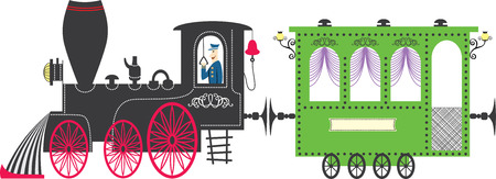 wagons: Train. Vector illustration Illustration