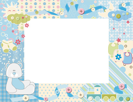 patchwork: Child photo framework. Vector  Illustration