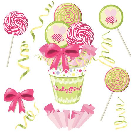 Lollipop bouquet Stock Vector - 8292990