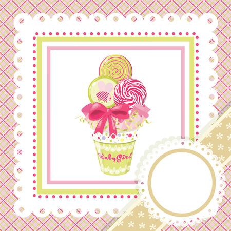 paletas de caramelo: Bouquet de piruleta en marco