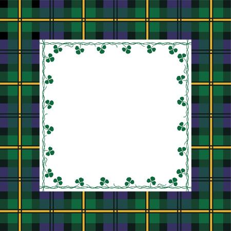 scotch: Kibicami Tartan ramki Ilustracja
