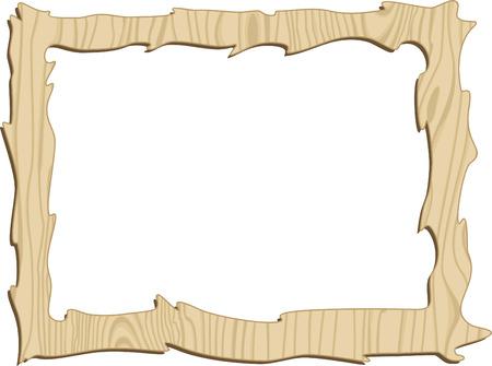 wood carving: Wooden frame.   illustration