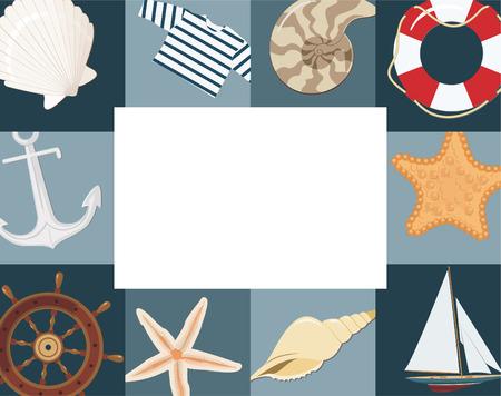 cockleshells: Marine framework Illustration