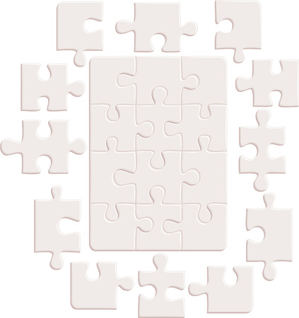Puzzle background  illustration Illustration