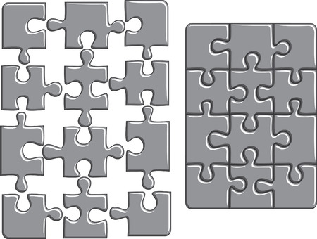 difficulties: Puzzle background.  illustration