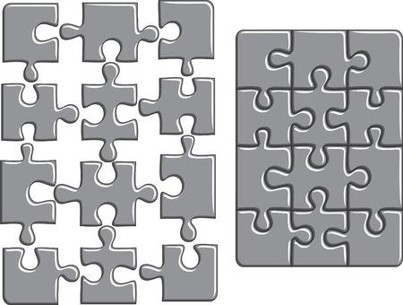 Puzzle background.  illustration