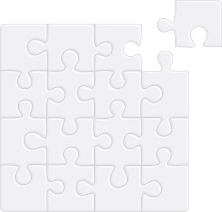 Puzzle pattern (removable pieces). illustration Vector