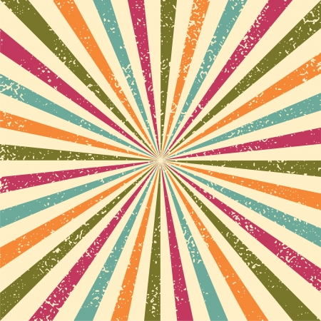 sunburst: Abstract grunge background, illustration. Grunge effect can be cleaned easily. Illustration