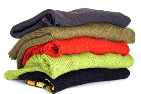 stack of various sweaters photo