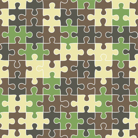 camuflaje: Puzzle patr�n transparente de camuflaje  Vectores