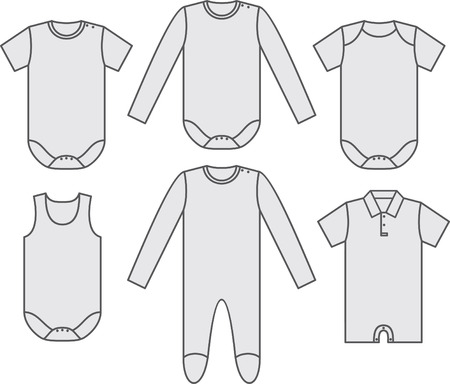 Set of child wear Illustration
