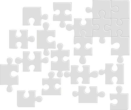 Puzzle pattern (removable pieces). Vector illustration Vector