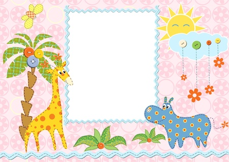 Baby frame or card. Vector illustration  Vector
