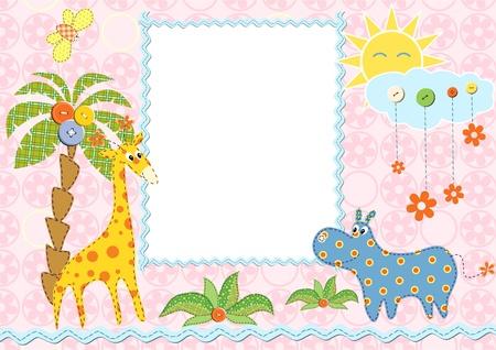 Baby frame or card. Vector illustration  Vettoriali