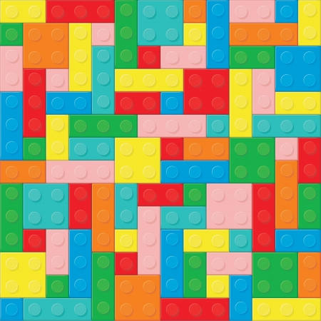 Construction blocks (removable pieces). Vector illustration Vector