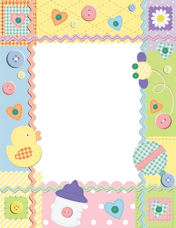 Child photo framework.  Vector